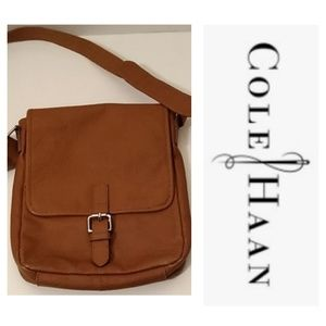 Cole Hahn Crossbody Brown Leather w/Silver Bag